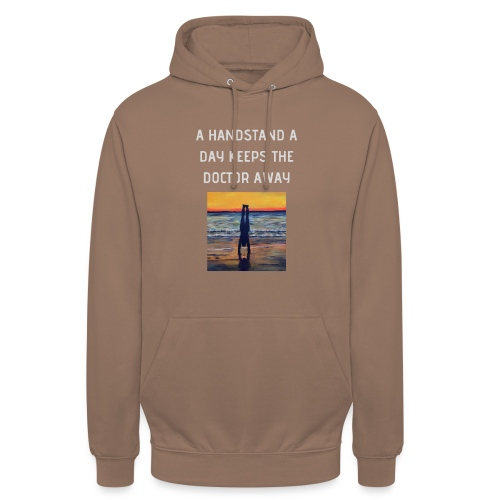 A HANDSTAND A DAY KEEPS THE DOCTOR AWAY weiss - Unisex Hoodie