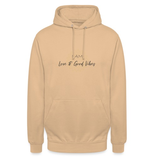 I am love and good vibes grey_gold - Unisex Hoodie