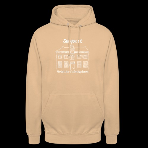 See you at Hotel de Tabaksplant WIT - Hoodie unisex