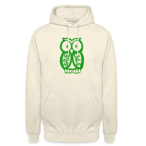 Save owls - Sweat-shirt à capuche unisexe