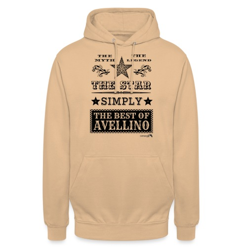 1,03 The Star Legend Avellino - Felpa con cappuccio unisex