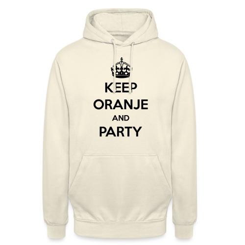 KEEP ORANJE AND PARTY - Hoodie unisex