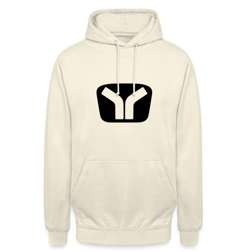 Yugo Logo Black-Transparent Design - Unisex Hoodie