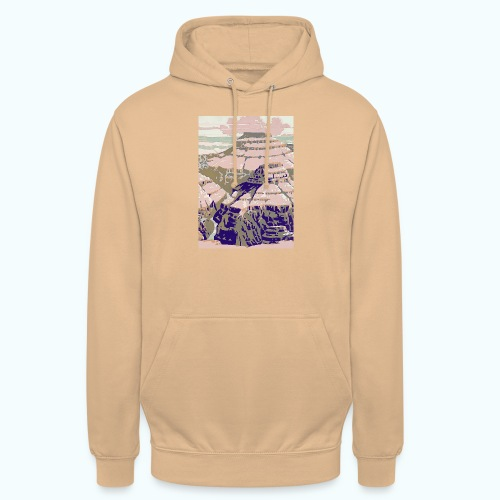Rocky Mountains Vintage Travel Poster - Unisex Hoodie
