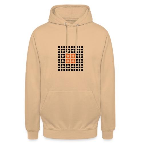 Square Dots - Sudadera con capucha unisex