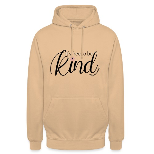 Amy's 'Free to be Kind' design (black txt) - Unisex Hoodie