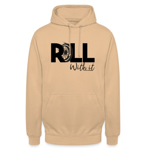 Amy's 'Roll with it' design (black text) - Unisex Hoodie