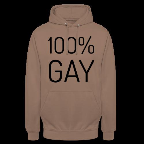 100% Gay - Hoodie unisex