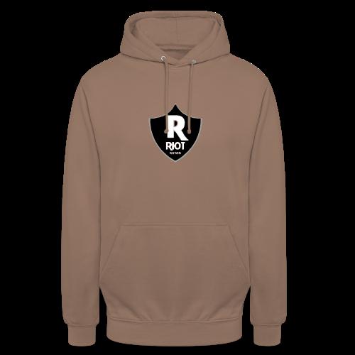 riot Nation logo schwarz - Unisex Hoodie