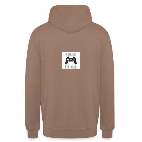 Sweats je peux pas jai console - Sweat-shirt à capuche unisexe