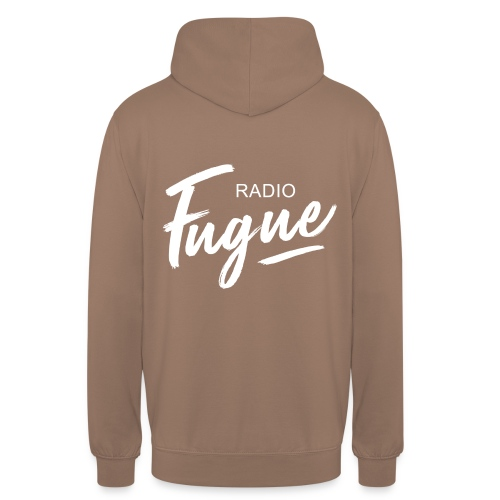 Radio Fugue Blanc - Sweat-shirt à capuche unisexe