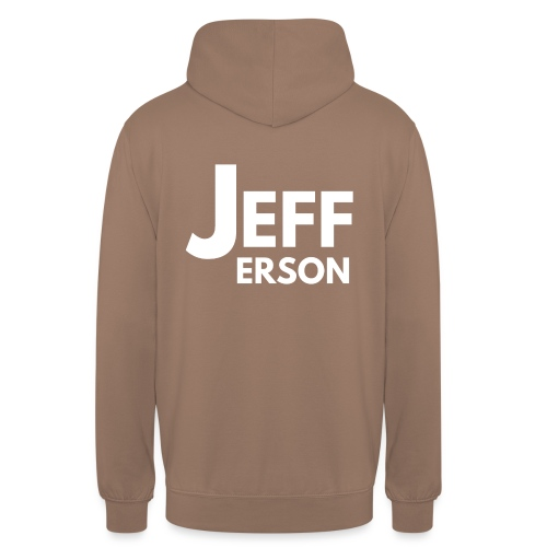 Jefferson logo (wit) op rug - Hoodie unisex