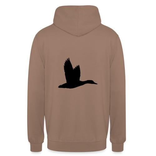 T-shirt canard personnalisé avec votre texte - Sweat-shirt à capuche unisexe