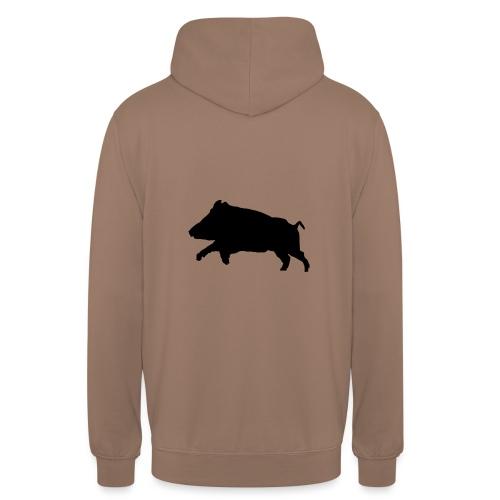 Tshirt sanglier personnalisable - Sweat-shirt à capuche unisexe