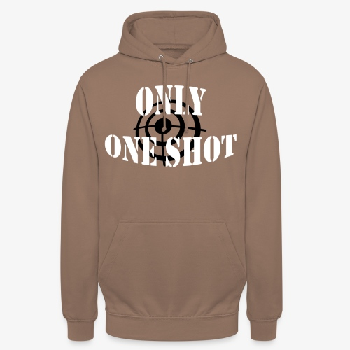 Only one shot - Sweat-shirt à capuche unisexe