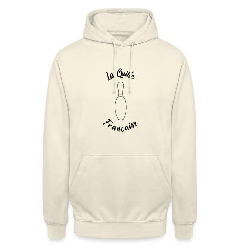 La quille Française Simple Noir - Sweat-shirt à capuche unisexe