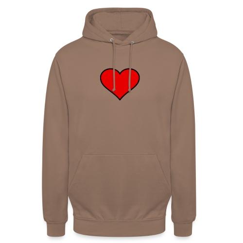 big heart clipart 3 - Luvtröja unisex
