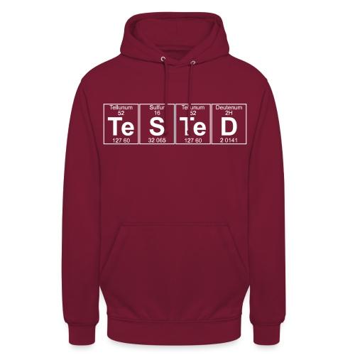Te-S-Te-D (tested) (small) - Unisex Hoodie