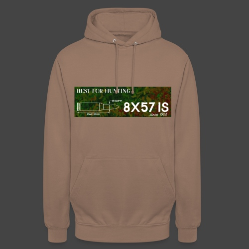 Kalibershirt 8x57IS - seit 1905. Ein Jägershirt - Unisex Hoodie
