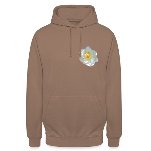 A white rose - Unisex Hoodie