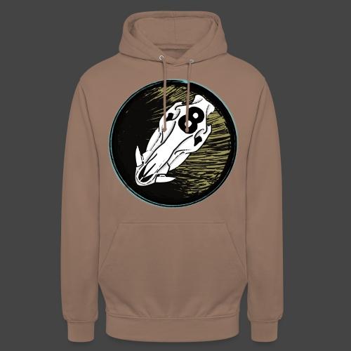 skully eightball backbanner - Unisex Hoodie