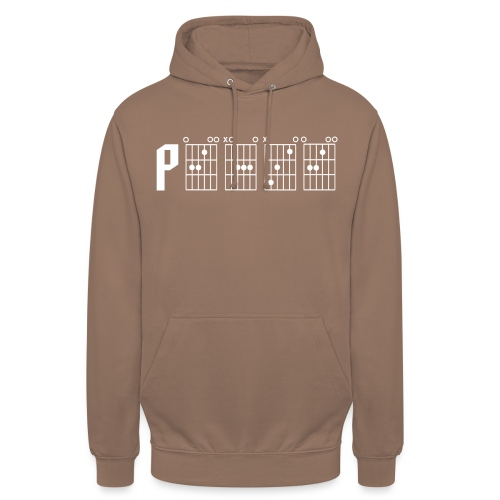 Peace through the power of a guitar chord - Unisex Hoodie