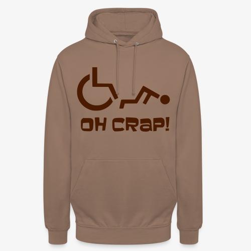 > Soms heb je pech en val je uit je rolstoel, crap - Hoodie unisex