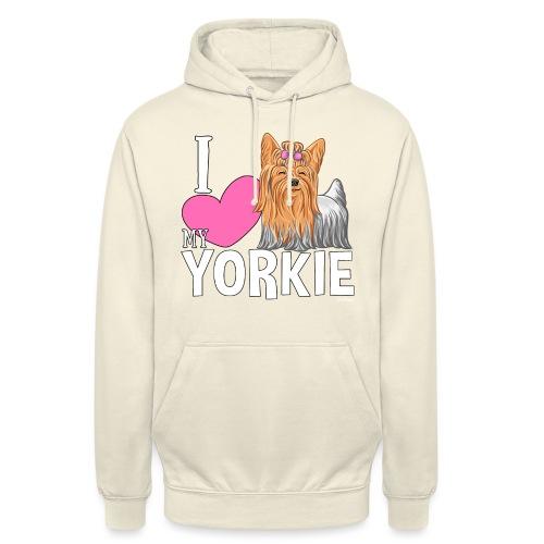 """I love my Yorkie - Huppari """"unisex"""""""