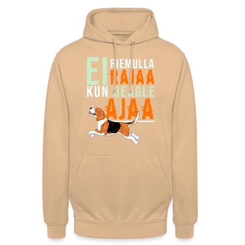 "Riemulla Rajaa Beagle - Huppari ""unisex"""