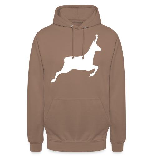 T-shirt Chasse personnalisable - motif chamois - Sweat-shirt à capuche unisexe