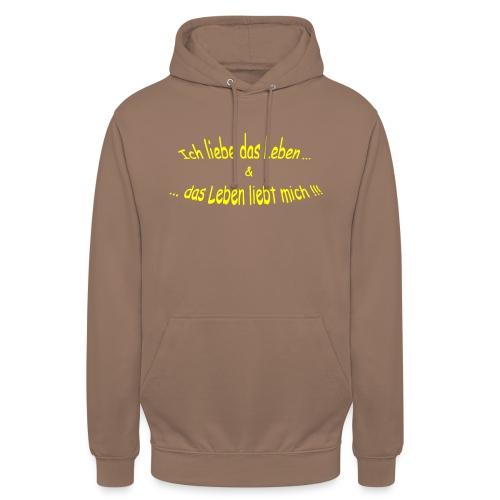 Ich-liebe-das-Leben-gelb - Unisex Hoodie