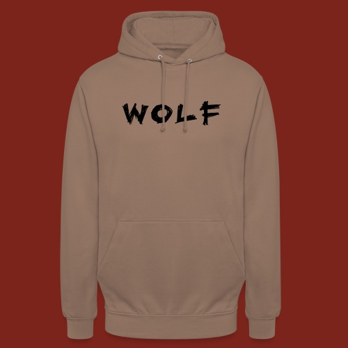 Wolf Font png - Hoodie unisex