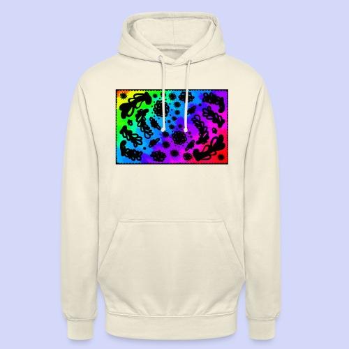 Rainbow doodle - Female shirt - Hættetrøje unisex