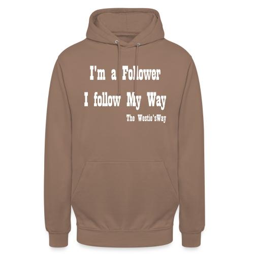 I follow My Way White - Bluza z kapturem typu unisex
