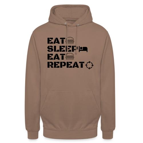 eat sleep eat repeat - Sweat-shirt à capuche unisexe