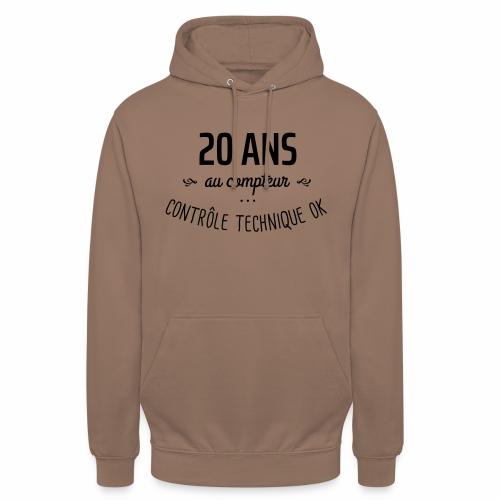 20 ans au compteur - Sweat-shirt à capuche unisexe