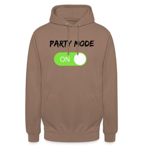 Party mode on tshirt - Hoodie unisex
