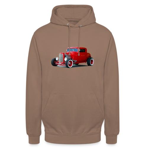 Hot rod red car - Hoodie unisex