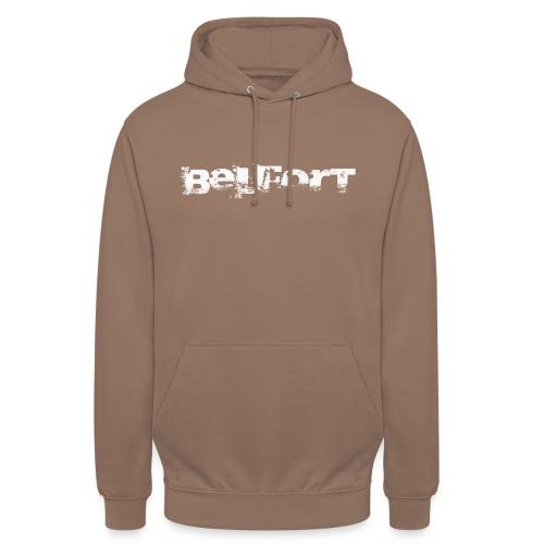 Belfort police n°1 blanc - Sweat-shirt à capuche unisexe