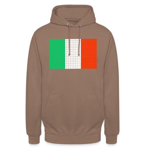 italian flag - Felpa con cappuccio unisex