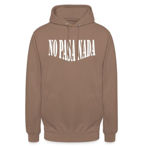 scritta per maglione png BIANCO - Felpa con cappuccio unisex