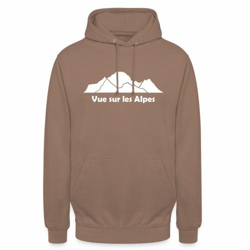 Vue sur les Alpes - Sweat-shirt à capuche unisexe
