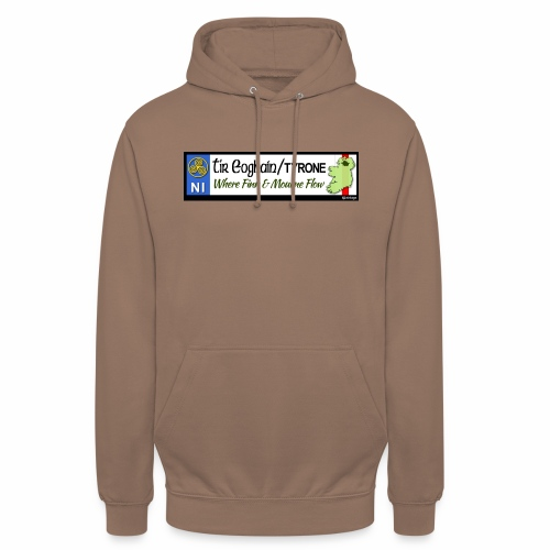 TYRONE, NORTHERN IRELAND licence plate tags decal - Unisex Hoodie