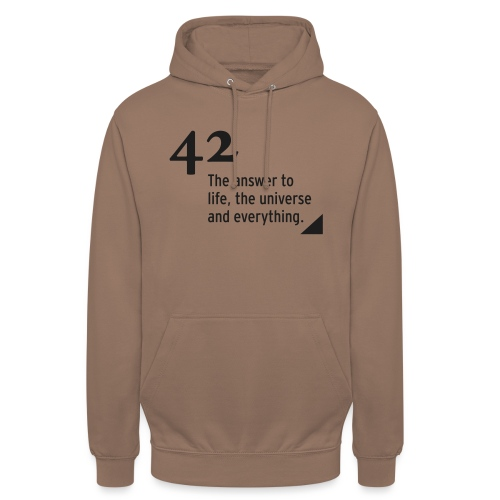 42 - the answer to life, the universe & everything - Unisex Hoodie