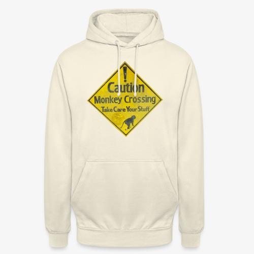 Caution Monkey Crossing - Unisex Hoodie