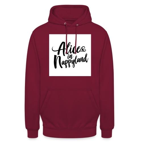 Alice in Nappyland Typography Black 1080 1 - Unisex Hoodie