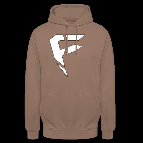 F Logo in Weiß - Unisex Hoodie