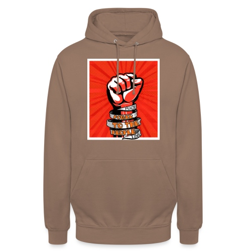 Power to the people - with peace and love protest - Unisex Hoodie