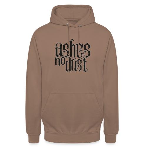 Black logo Ashes No Dust - Sweat-shirt à capuche unisexe