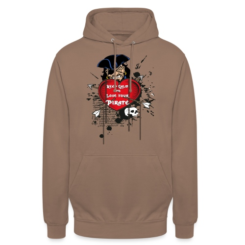 love your pirate - Felpa con cappuccio unisex